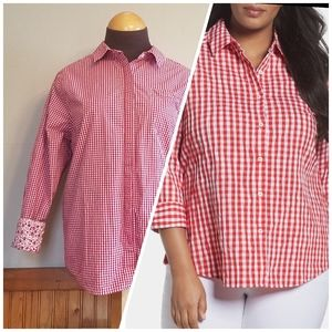 Red Gingham Button Down